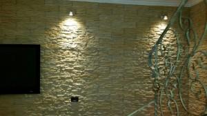 dopo parete illuminata