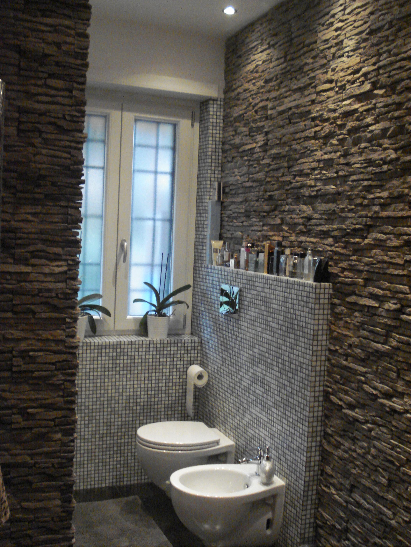 Il bagno rinnovare con la pietra - Come rivestire il bagno ...