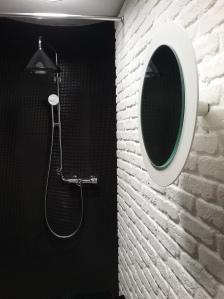 Mattoncini bagno, Bagno rivestito mattoncini, Parete bagno mattoni, Roma, pietra ricostruita per interni, in bagno,