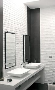bagno mattoncino bianco