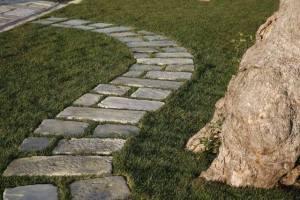 Pavimento esterno camminamenti sentiero finta pietra vecchio basolato Primiceri, sentiero, vialetto