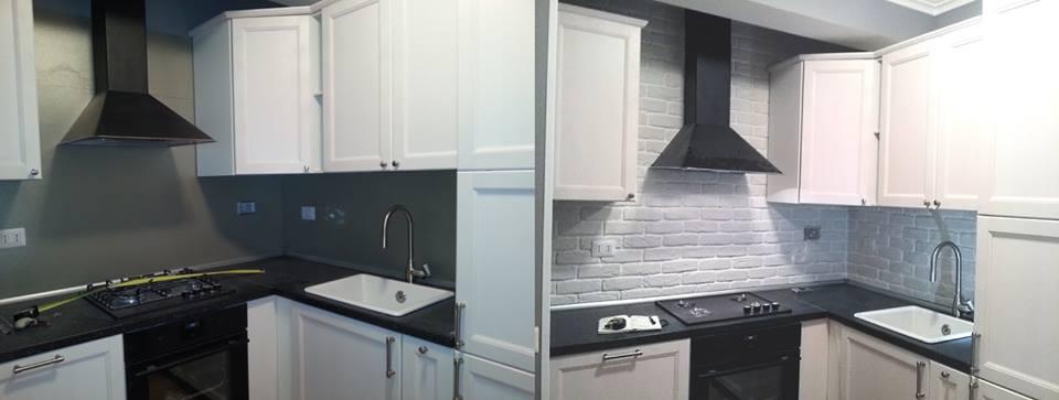 La cucina e la pietra ricostruita. – rinnovare con la pietra