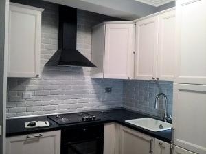 Cucina rivestita in Mattone bianco