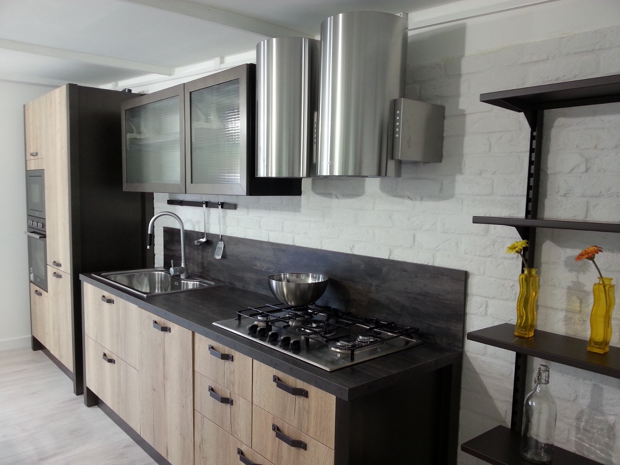 Cucina mattone b trep rm 8 rinnovare con la pietra - Rivestimento cucina finta pietra ...