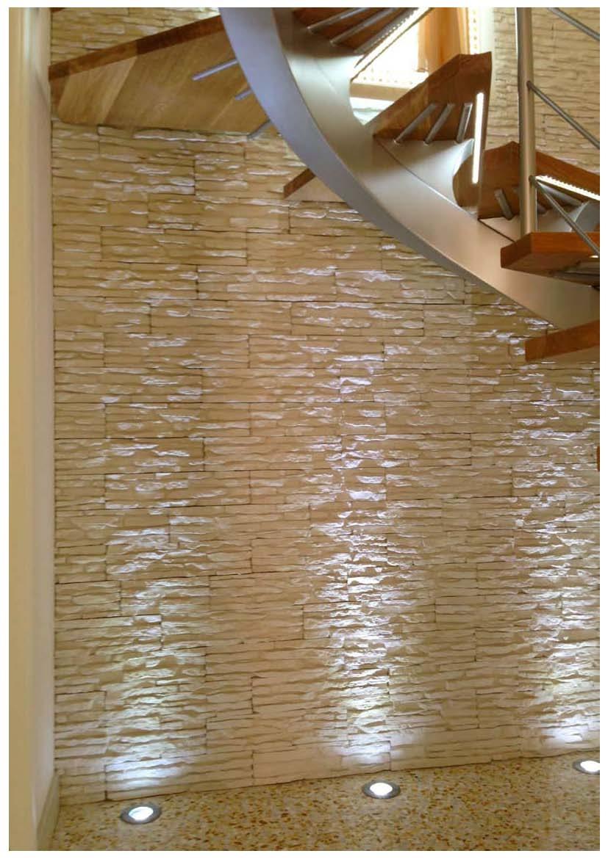 Petra il rivestimento facile da montare rinnovare con la pietra - Pietra per interni parete ...