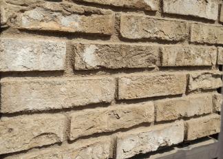 Perdita colore: prodotto sovra-verniciato. Mattoni polistirolo, Pietra per soggiorno, Pareti in pietra