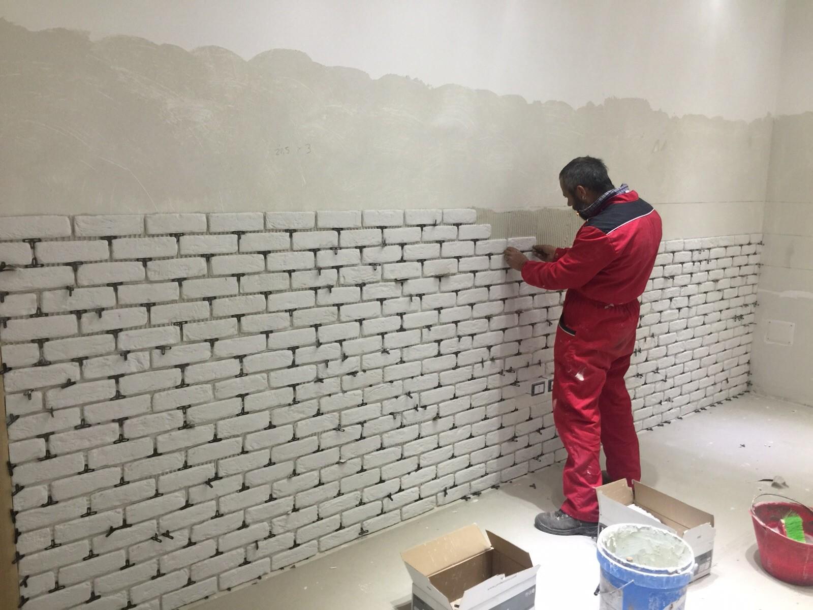 Piastrelle effetto pietra per pareti muro esterno luserna misto