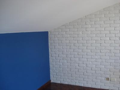 parete mansarda mattoni bianchi, mattoni roma, finti mattoni, pietra ricostruita roma