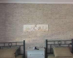 rivestimento Quarzite Primiceri, pareti soggiorno pietra, soggiorno in pietra