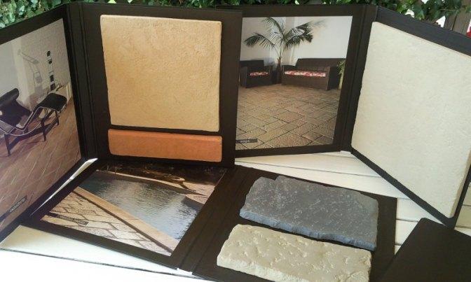 cartelle espositive, pavimenti pietra ricostruita, Primiceri, pietra ricostruita