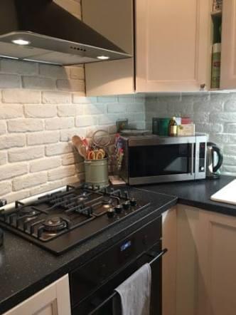 mattoni rivestimento in cucina