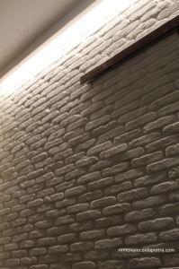 come posare una parete in mattoni in listelli anticati